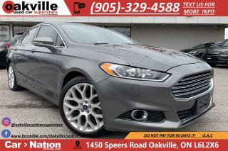 Used 2013 Ford Fusion TITANIUM | NAVI | B/U CAM | SUNROOF | LEATHER for sale in Oakville, ON