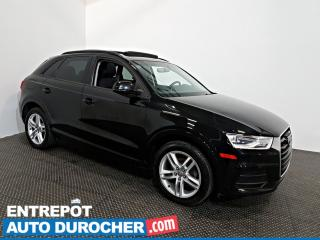 Used 2016 Audi Q3 Komfort AWD TOIT OUVRANT - AIR CLIMATISÉ - Cuir for sale in Laval, QC