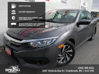 Used 2018 Honda Civic GREAT ON GAS, FACTORY WARRANTY, 2 SETS OF KEYS, LOCAL TRADE - $122 BI-WEEKLY - $0 DOWN for sale in Cranbrook, BC