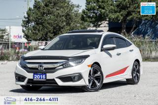 Used 2016 Honda Civic Touring GPS Warranty Certified Serviced We Finance for sale in Bolton, ON