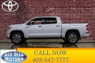 Used 2017 Toyota Tundra 4x4 Crew Cab Platinum Leather Roof Nav for sale in Red Deer, AB