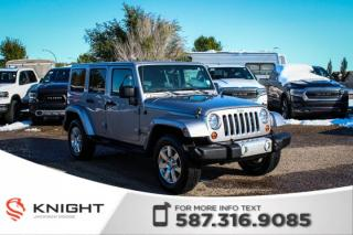 Used 2013 Jeep Wrangler Unlimited Sahara - NAV, Leather for sale in Medicine Hat, AB