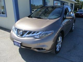Used 2014 Nissan Murano ALL-WHEEL DRIVE PLATINUM EDITION 5 PASSENGER 3.5L - V6.. NAVIGATION.. LEATHER.. HEATED SEATS.. DUAL SUNROOF.. BACK-UP CAMERA.. for sale in Bradford, ON