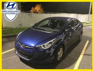 Used 2015 Hyundai Elantra GL, SIÈGES CHAUFFANTS, BLUETOOTH, CRUISE for sale in Brossard, QC