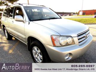 Used 2003 Toyota Highlander Limited - 4WD - 3.0L for sale in Woodbridge, ON