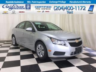 Used 2014 Chevrolet Cruze * LT Sedan * BLUETOOTH * REMOTE START * for sale in Portage la Prairie, MB