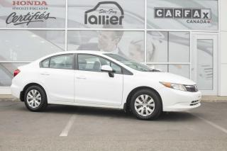 Used 2012 Honda Civic LX ***GARANTIE 10 ANS/200 000KM*** for sale in Québec, QC