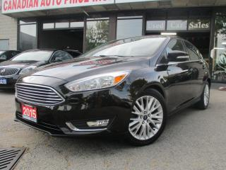 Used 2015 Ford Focus Titanium-NAVI-HB-LEATHER-CAMERA-HEATED-BLTOOT-ALLO for sale in Scarborough, ON