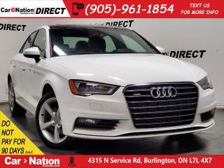 Used 2016 Audi A3 2.0T Komfort quattro (S tronic)| SUNROOF| for sale in Burlington, ON