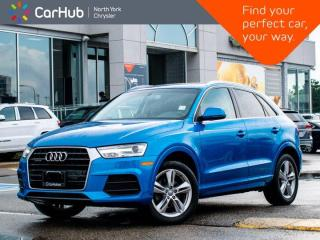 Used 2016 Audi Q3 Progressiv Panoramic Sunroof Navigation Heated Seats Dual Climate Cruise Control for sale in Thornhill, ON