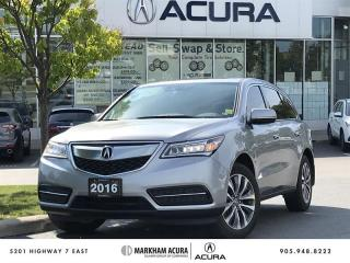 Used 2016 Acura MDX Navi SH-AWD, Blind Spot Info, Power Liftgate for sale in Markham, ON