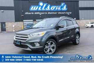 Used 2017 Ford Escape Titanium 4WD - Leather, Navigation, Sunroof, Heated Steering, Rear Camera, Bluetooth, Alloys for sale in Guelph, ON