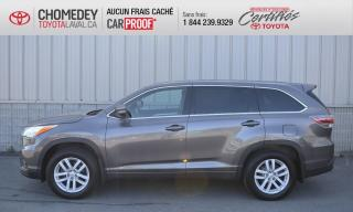 Used 2015 Toyota Highlander LE AWD, IMPECCABLE, JAMAIS ACCIDENTÉ for sale in Laval, QC