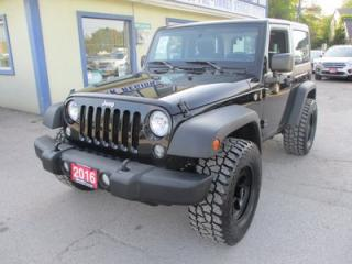 Used 2016 Jeep Wrangler FUN TO DRIVE SPORT EDITION 5 PASSENGER 3.6L - V6.. TRAIL-RATED 4X4.. CD/AUX INPUT.. REMOVABLE HARD TOP.. for sale in Bradford, ON