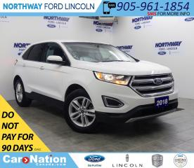 Used 2018 Ford Edge SEL | AWD | HTD SEATS | BACKUP CAM | PUSH START | for sale in Brantford, ON
