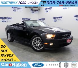 Used 2012 Ford Mustang V6 | PREMIUM | | LEATHER | PONY PKG | SHAKER AUDIO for sale in Brantford, ON