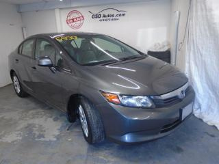 Used 2012 Honda Civic LX for sale in Ancienne Lorette, QC