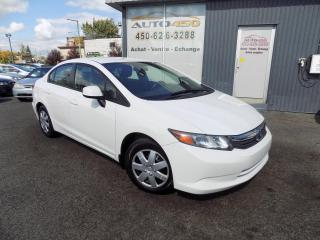 Used 2012 Honda Civic ***LX,AUTOMATIQUE,BAS KILOMETRAGE,A/C*** for sale in Longueuil, QC