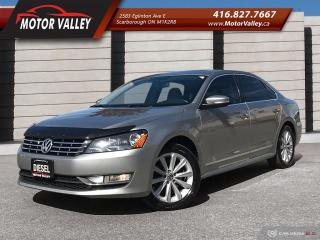 Used 2014 Volkswagen Passat 2.0 TDI DSG Highline Accident Free! Navi! B.up Cam for sale in Scarborough, ON