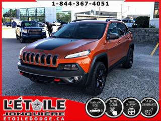 Used 2015 Jeep Cherokee TRAILHAWK V6, DEMARREUR A DISTANCE, ECR for sale in Jonquière, QC