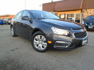 Used 2016 Chevrolet Cruze AUTO ONE OWNER LOW KM NO ACCIDENT B-TOOTH B-CAMERA for sale in Oakville, ON