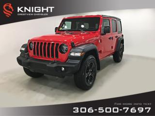 New 2020 Jeep Wrangler Unlimited Sport Altitude | Heated Seats and Steering Wheel | Remote Start for sale in Regina, SK