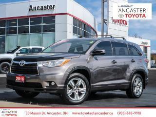 Used 2016 Toyota Highlander LIMITED 1 OWNER|LEATHER|SUNROOF|BACKUP CAMERA for sale in Ancaster, ON