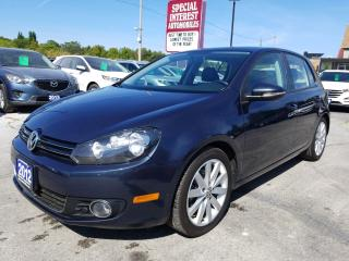 Used 2012 Volkswagen Golf 2.0 TDI Highline ONE OWNER !! LEATHER !! SUNROOF !! ALLOYS !! for sale in Cambridge, ON