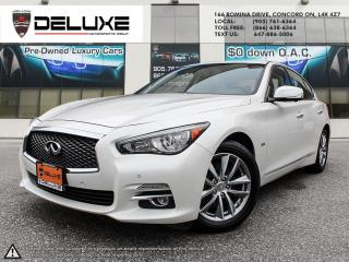 Used 2017 Infiniti Q50 3.0T 2017 INFINITI Q50 3.0L AWD NAVIGATION BOSE SOUND DRIVE ASSIST BLIND SPOT 6-Cylinder $0 DOWN OAC for sale in Concord, ON