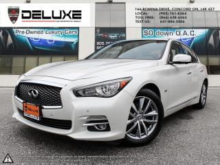 Used 2017 Infiniti Q50 3.0T 2017 INFINITI Q503.0L AWD NAVIGATION BOSESOUND DRIVE ASSIST BLIND SPOT 6-Cylinder $0 DOWN OAC for sale in Concord, ON