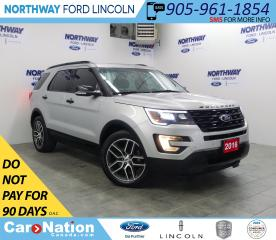 Used 2016 Ford Explorer Sport | AWD | NAV | LEATHER | PANOROOF | 3 ROW | for sale in Brantford, ON