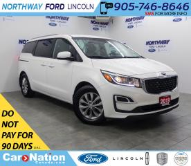 Used 2019 Kia Sedona LX | HTD SEATS+WHEEL | BACK UP CAM | 3 ROW | for sale in Brantford, ON