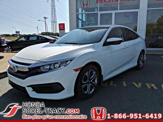 Used 2017 Honda Civic LX 4 portes CVT+GARANTIE PROLONGÉE HONDA for sale in Sorel-Tracy, QC
