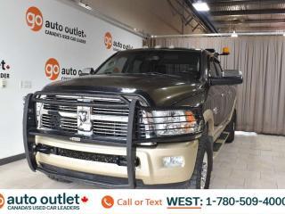 Used 2011 RAM 3500 Laramie Longhorn, 6.7L I6, Turbo diesel, 4x4, Longbox, Crew cab, Navigation, Heated seats, Backup camera, Sunroof, Bluetooth for sale in Edmonton, AB
