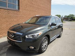 Used 2013 Infiniti JX35 LEATHER/SUNROOF/BLUETOOTH/NAVI/CAM/7PASSENGERS for sale in Oakville, ON