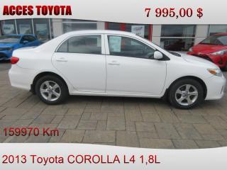 Used 2013 Toyota Corolla CE for sale in Rouyn-Noranda, QC