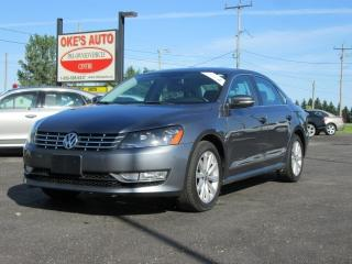 Used 2013 Volkswagen Passat 2.0L TDI SE w/Sunroof & Nav for sale in Alvinston, ON
