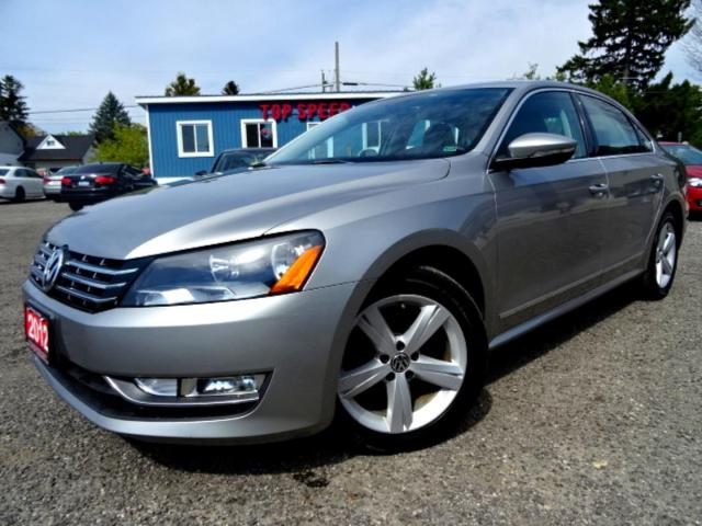 2012 Volkswagen Passat Comfortline TDI DSG Sunroof Bluetooth Leather Certified