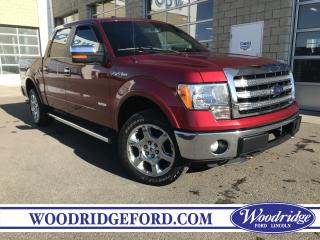Used 2013 Ford F-150 Lariat ECOBOOST, NAVIGATION, SUNROOF, LEATHER HEATED SEATS, MAX TRAILER TOW, NO ACCIDENTS for sale in Calgary, AB