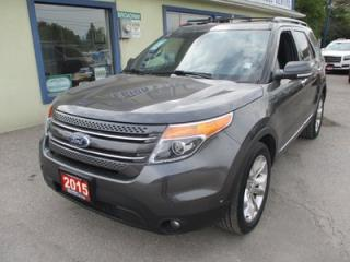 Used 2015 Ford Explorer FOUR-WHEEL DRIVE LIMITED EDITION 7 PASSENGER 3.5L - V6.. BENCH & 3RD ROW.. NAVIGATION.. LEATHER.. HEATED/AC SEATS.. DUAL SUNROOF.. for sale in Bradford, ON