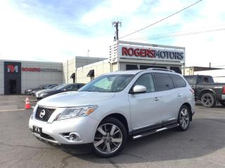 Used 2016 Nissan Pathfinder PLATINUM 4WD - NAVI - DVD - 7 PASS - PANO ROOF for sale in Oakville, ON