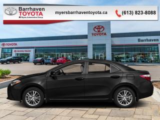 Used 2016 Toyota Corolla S  -  Heated Seats -  Bluetooth - $108 B/W for sale in Ottawa, ON