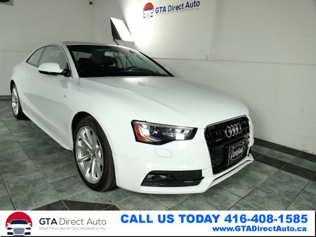 2016 Audi A5 Progressiv Plus AWD Nav Sunroof Leather Certified