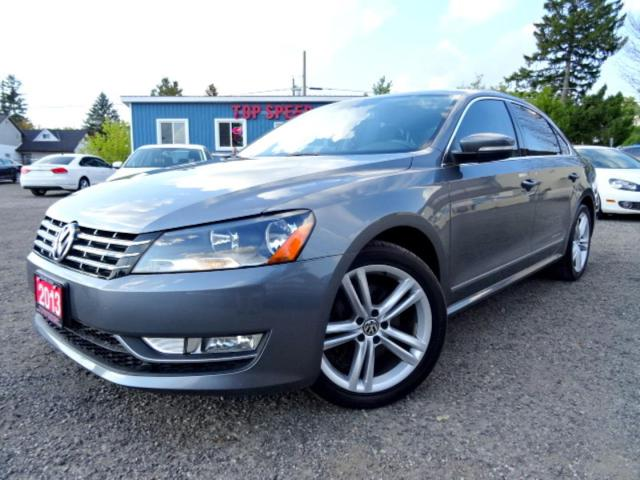 2013 Volkswagen Passat Highline TDI DSG Suede on Leather Sunroof Bluetooth Certified