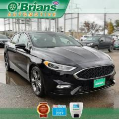 Used 2017 Ford Fusion V6 Sport - Accident Free! w/Mfg Warranty, AWD, Leather, Nav, Loaded! for sale in Saskatoon, SK