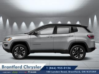 Used 2020 Jeep Compass Trailhawk  - Leather Seats - Sunroof for sale in Brantford, ON