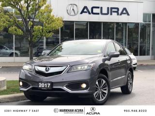Used 2017 Acura RDX Elite at AWD, Low Km, Htd Sts, Navigation for sale in Markham, ON