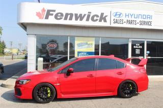 Used 2018 Subaru WRX STI 4Dr Sport-Tech Pkg w/ Wing Spoiler 6sp for sale in Sarnia, ON