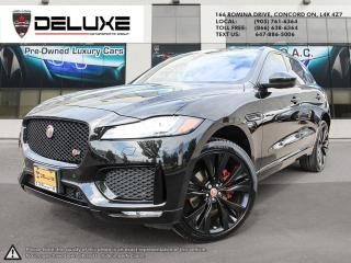 Used 2017 Jaguar F-PACE 2017 JAGUAR F-PACE S 3.0L V6 Supercharged (380 HP) Navigation blind spot  $0 down OA for sale in Concord, ON