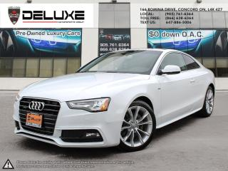 Used 2016 Audi A5 2.0T Komfort plus 2016 AUDI A5 PREMIUM Sline Quattro AWD  push starter  2.0L TFSI 4 Cylinder $0 Down OAC for sale in Concord, ON